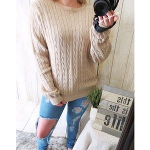 Vintage Sweaters - Coffee house chunky knit sweater 🌾
